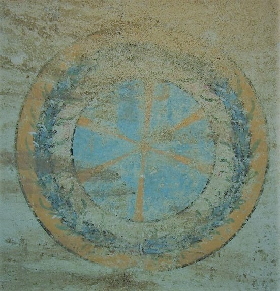 Constantin the Great sign found in Early Christian Basilica in Nis Serbia, Constantine sign in tomb